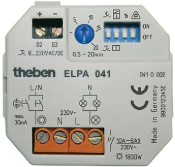 Theben / Timeguard Staircase Timer Light Switch 1 Channel, 230 V ac, 0.5 → 20min Setting Time