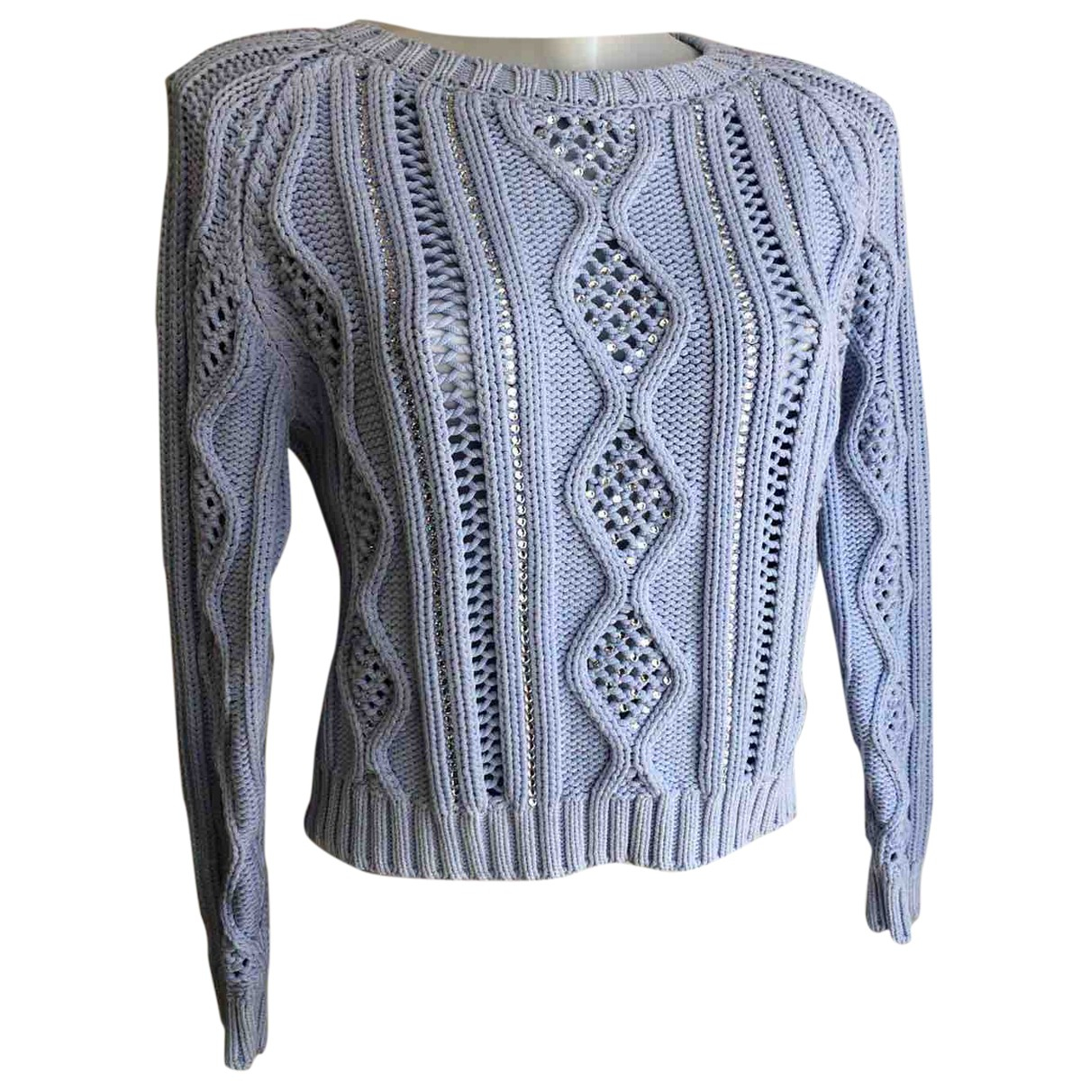 Ermanno Scervino \N Turquoise Cotton Knitwear for Women 42 IT