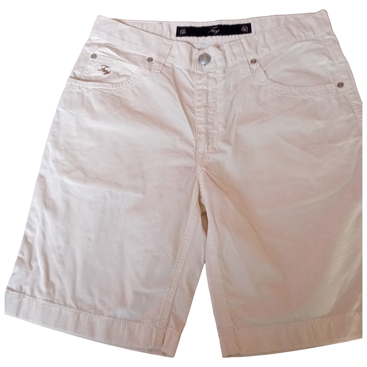 Fay \N White Cotton Shorts for Men L International