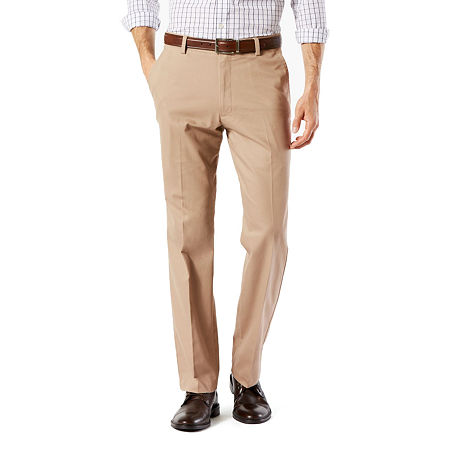 Dockers Men's Straight Fit Easy Khaki with Stretch Pants D2, 34 32, Beige
