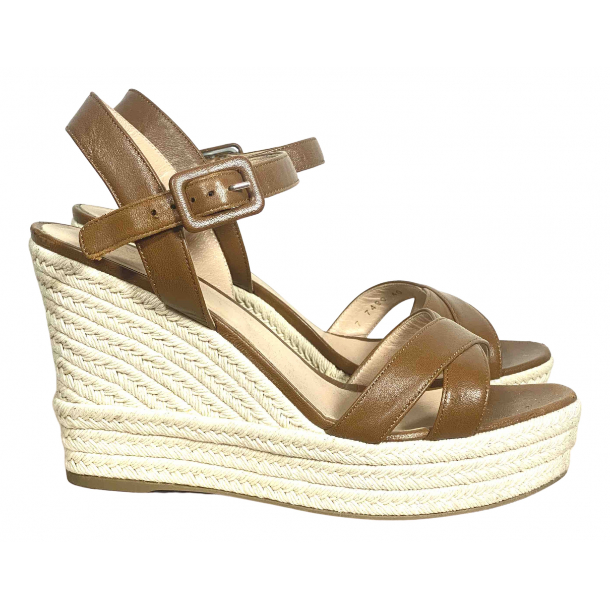 Sergio Rossi \N Brown Leather Sandals for Women 40 IT