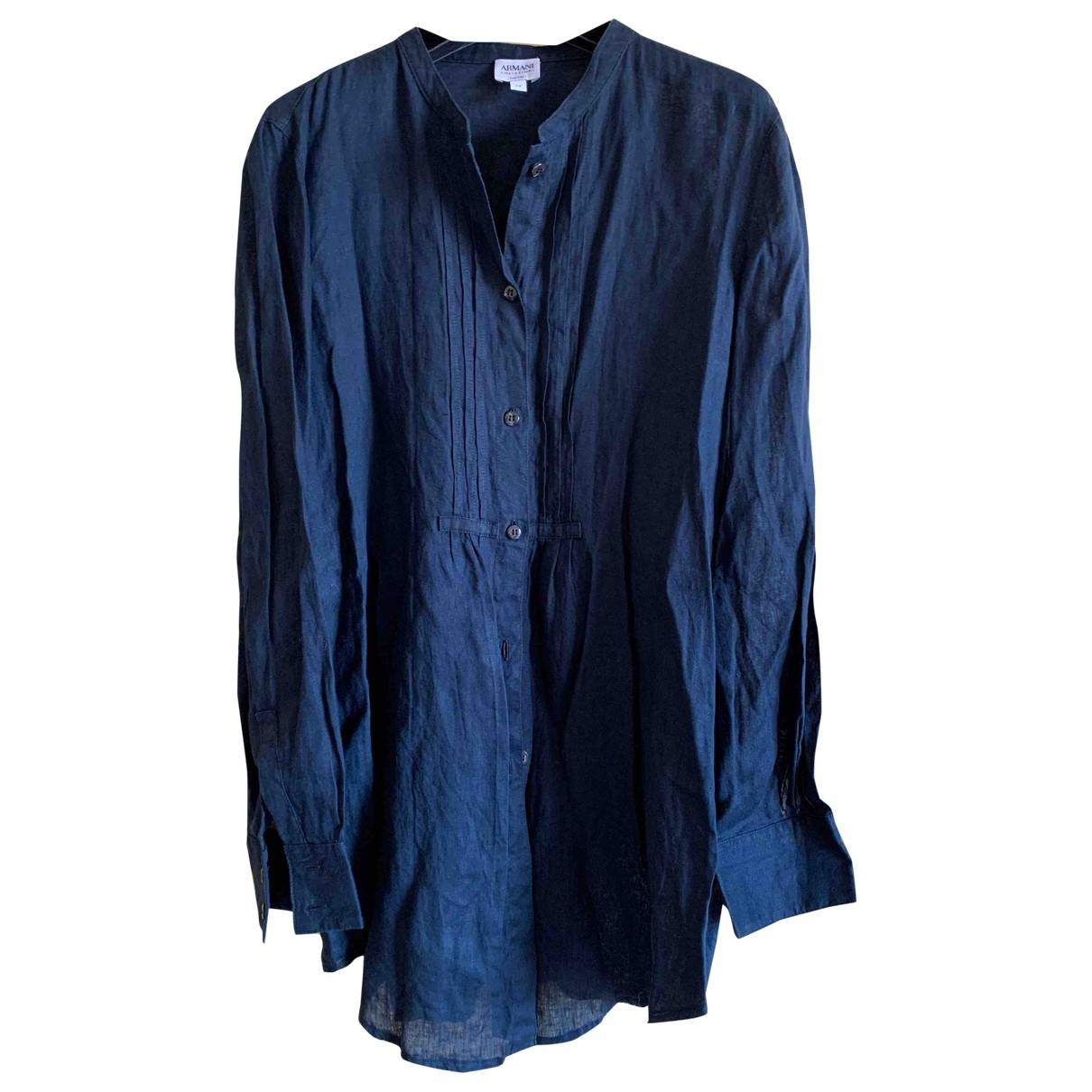 Armani Collezioni \N Blue Linen Knitwear for Women 44 IT