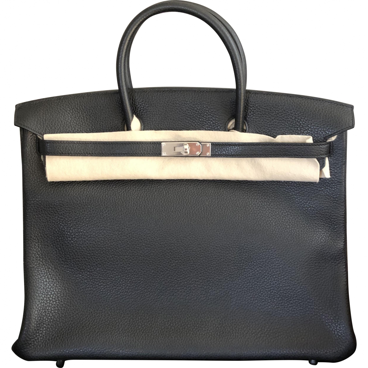 Hermès Birkin 35 Black Leather handbag for Women \N