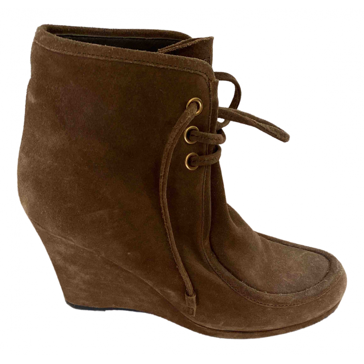 Prada \N Brown Suede Ankle boots for Women 40 EU