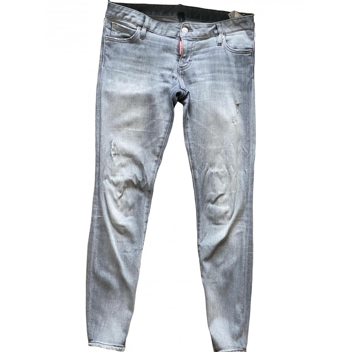 Dsquared2 \N Grey Denim - Jeans Jeans for Women 34 FR