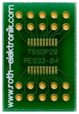 Roth Elektronik Surface Mount (SMT) Board TSSOP Epoxy Glass Double-Sided 23.5 x 16 x 1.5mm FR4