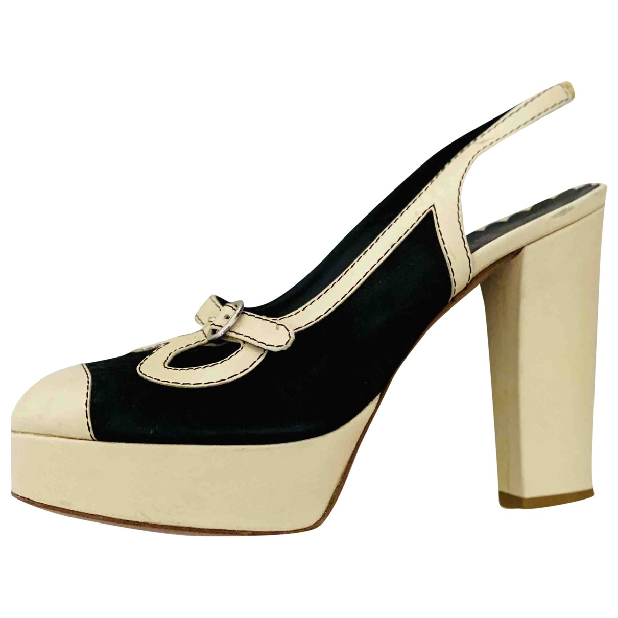 Moschino Cheap And Chic \N Beige Leather Heels for Women 38 EU