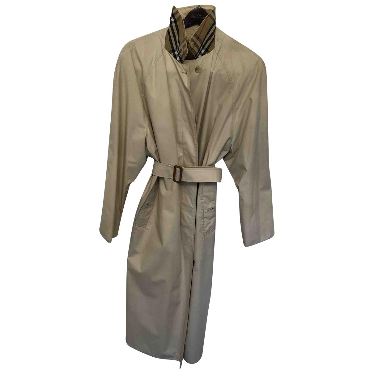Burberry \N Beige Cotton coat for Women 16 UK
