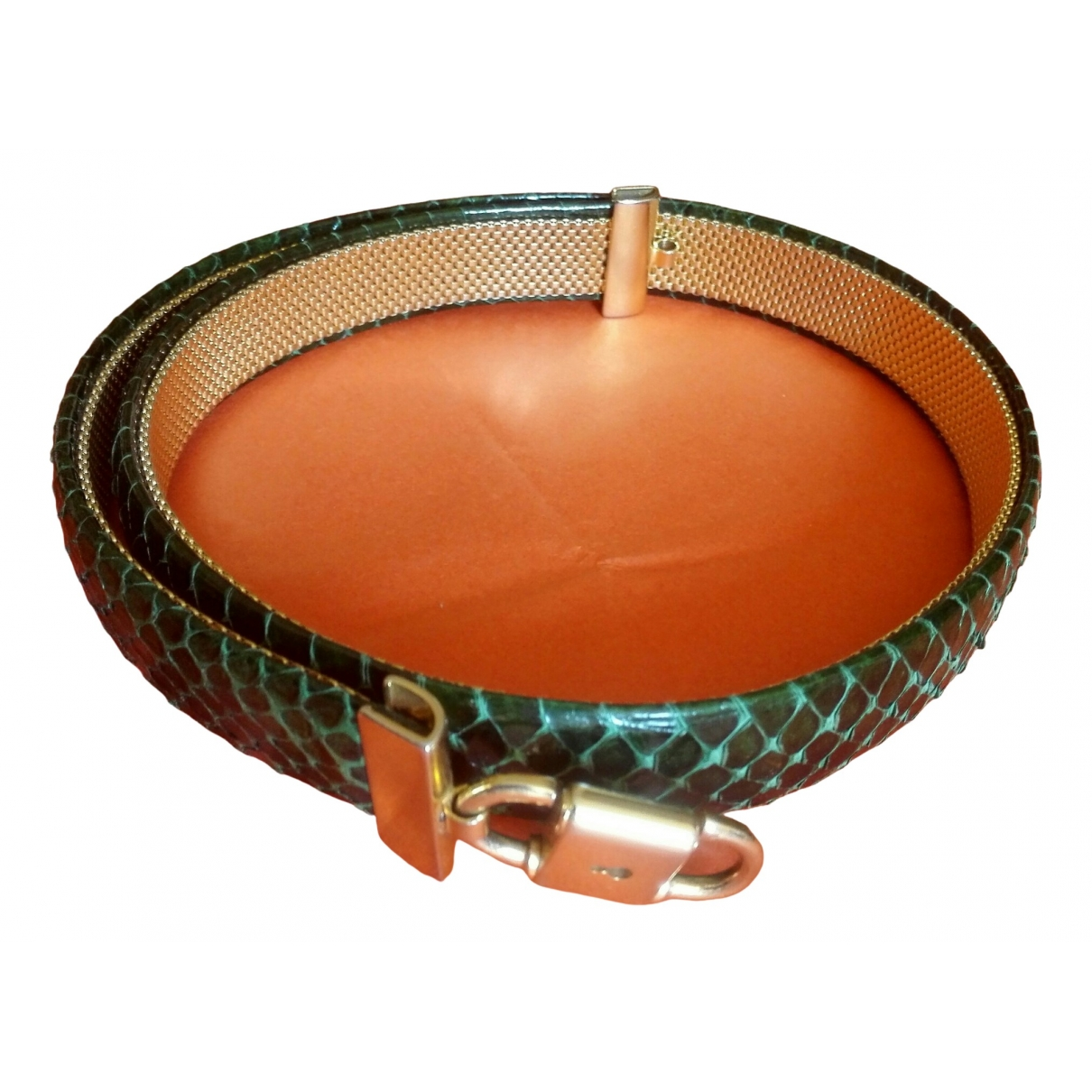 Non Signé / Unsigned \N Green Python belt for Women S International