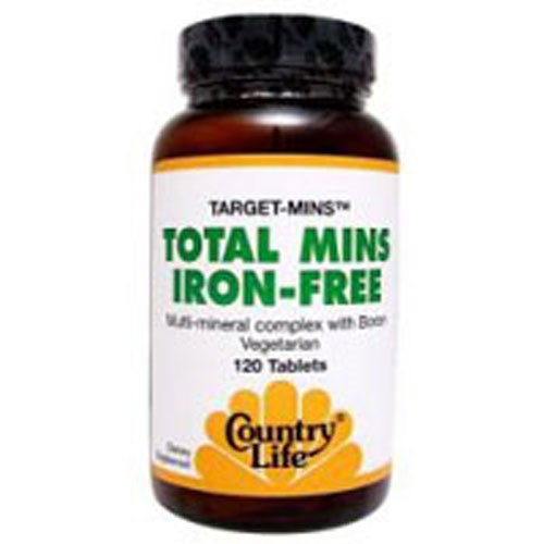Iron Free Total Mins Target-Mins 120 Tabs by Country Life