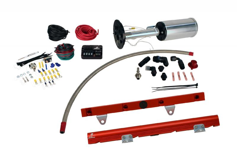 Aeromotive 17181 Fuel System System, C6 Corvette, 18671 Eliminator, 14106 LS-1 Rails, 16306 PSC and; Fittings
