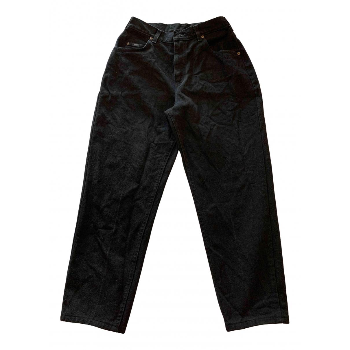 Lee \N Black Cotton Jeans for Women 29 US