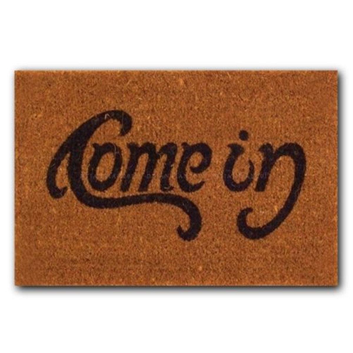 Welcome Come In Rubber Door Mat Floor Pad Non Slip Indoor Outdoor Doormat Rug