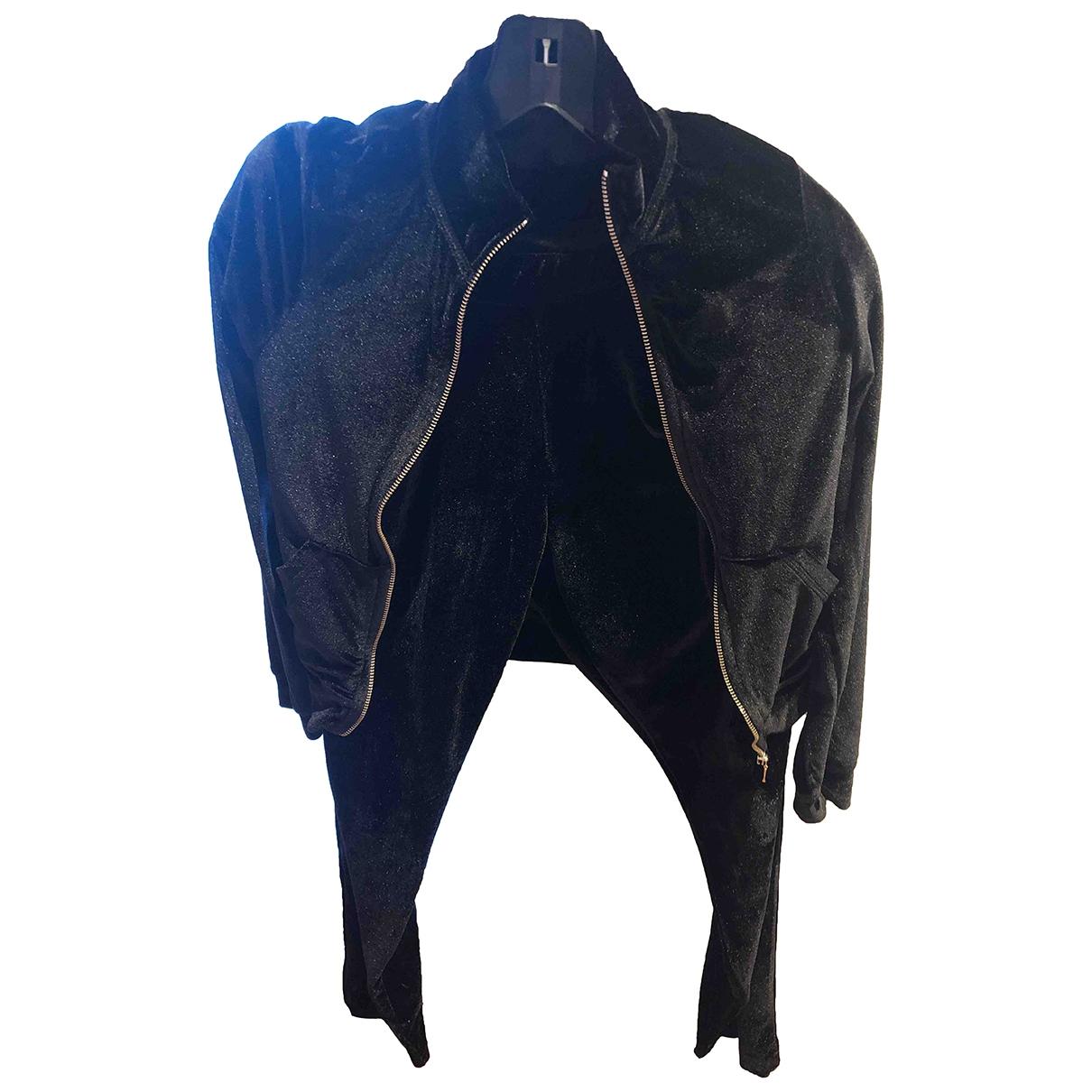 Zara \N Black Cotton jacket for Women 40 IT
