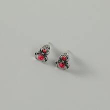 Men Spider Decor Stud Earrings