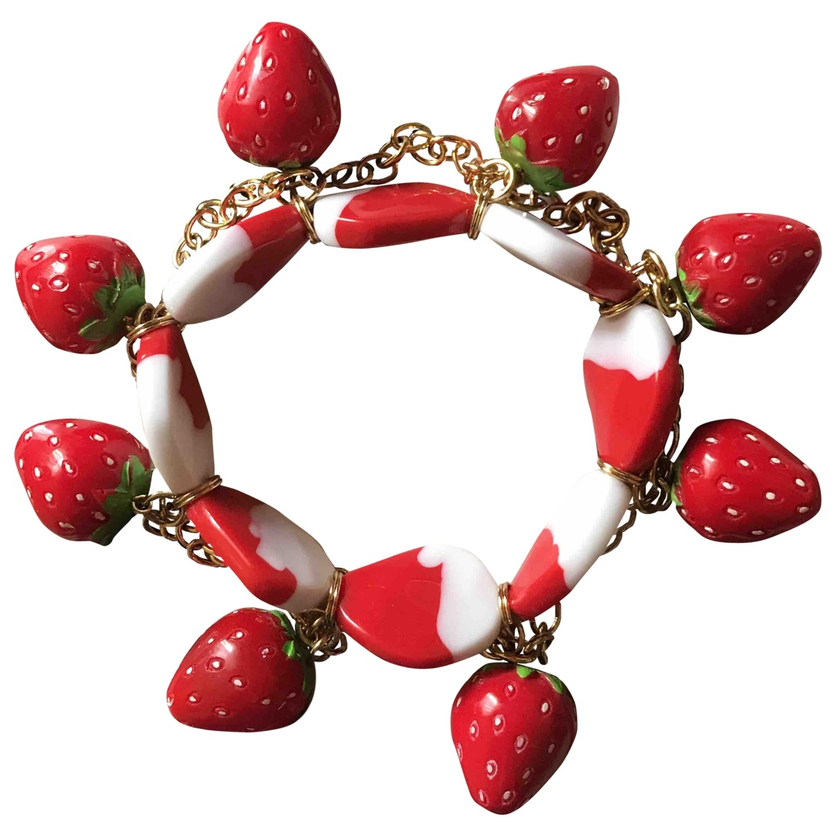 Non Signé / Unsigned \N Red bracelet for Women \N