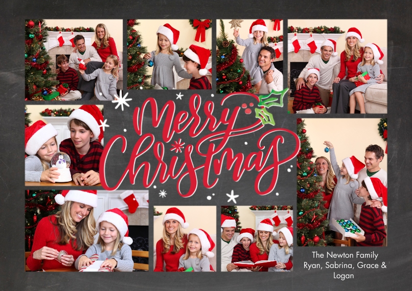 Christmas Photo Cards 5x7 Cards, Premium Cardstock 120lb with Elegant Corners, Card & Stationery -Christmas Gleeful Script by Tumbalina