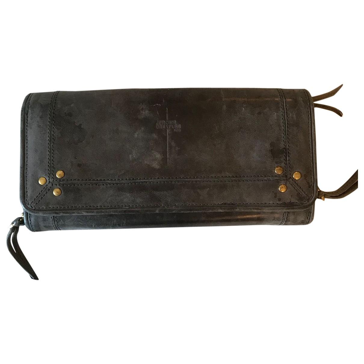 Jerome Dreyfuss \N Grey Leather wallet for Women \N