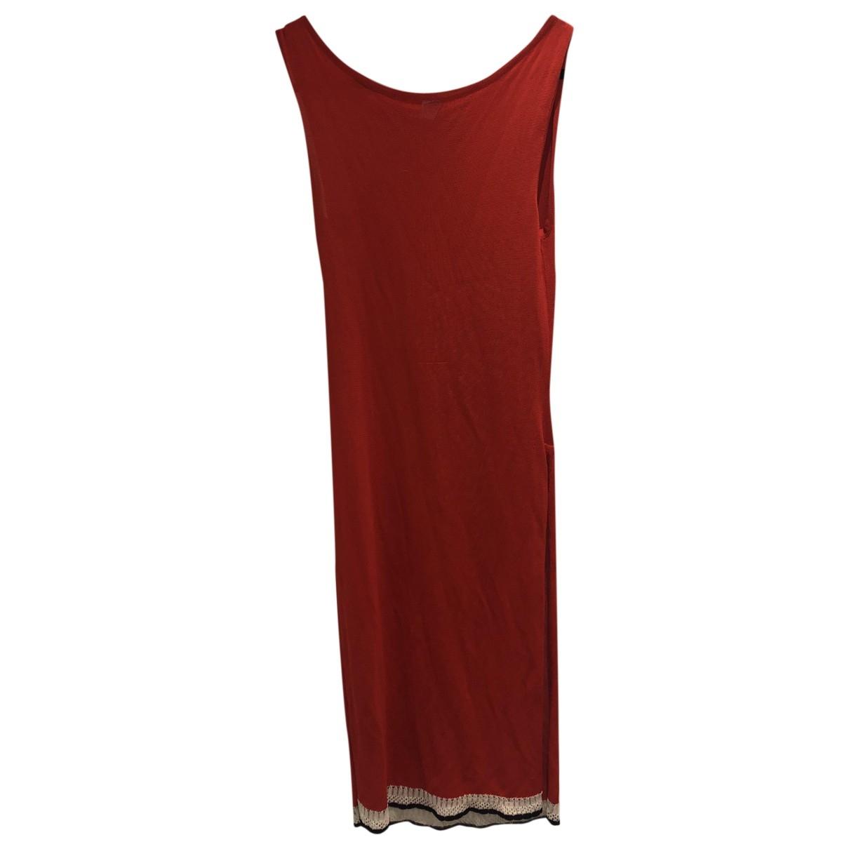 Bella Freud \N Red Cotton - elasthane dress for Women 8 UK