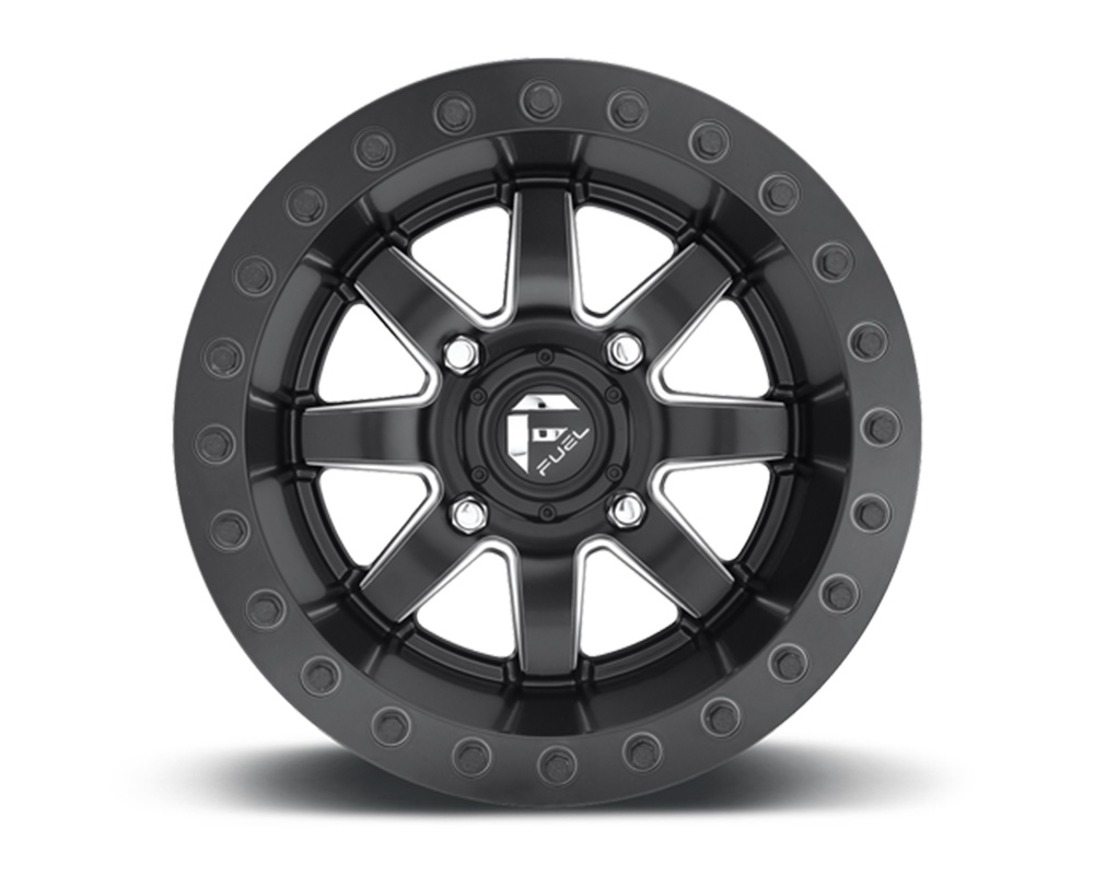 Fuel UTV D938 MaverickBL HD Ring Black & Milled 1-Piece Cast Wheel 14x7 4x136 38mm