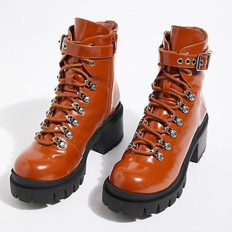 Ericdress Round Toe Side Zipper Plain Women's Martin Boots