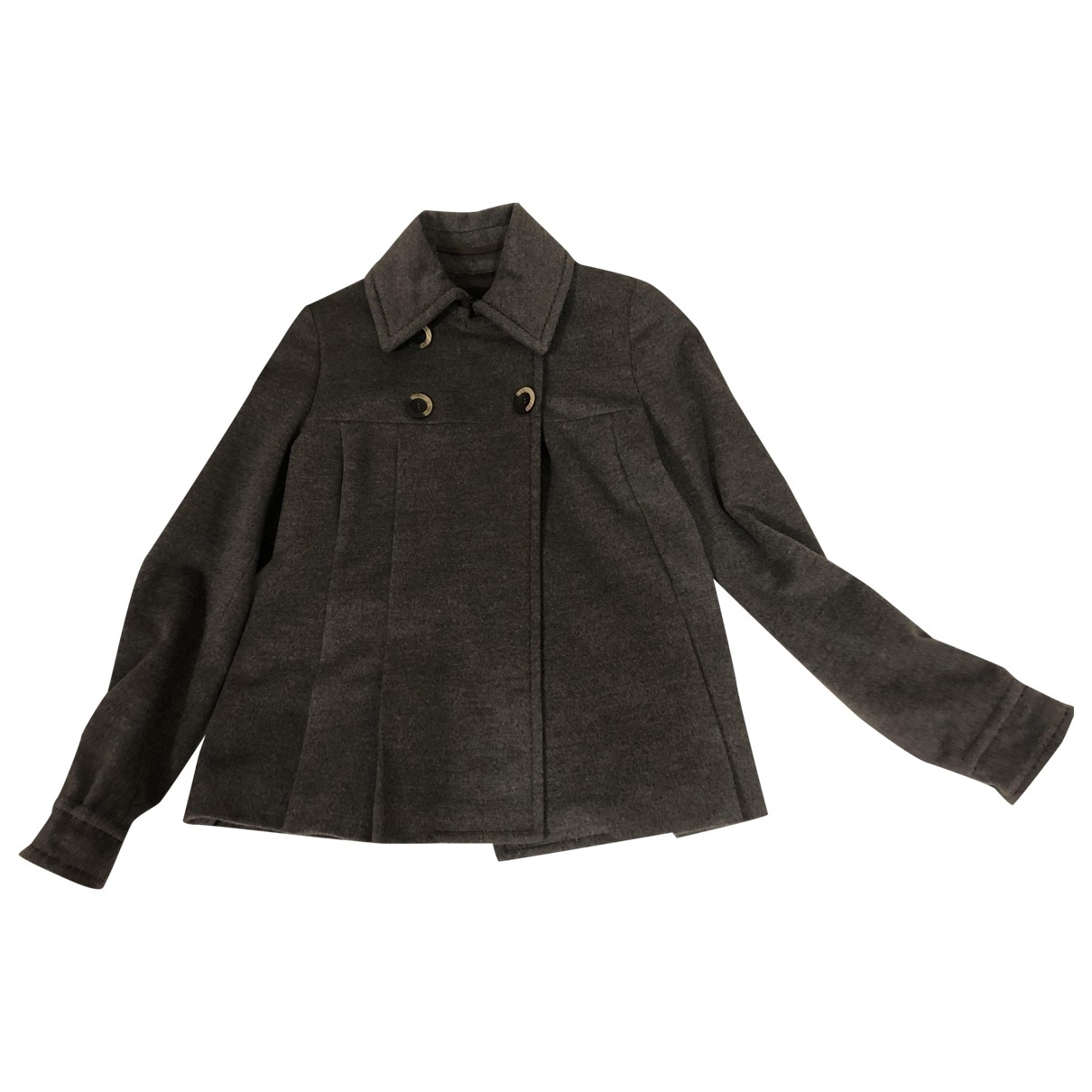 Sport Max \N Grey Wool coat for Women 40 IT