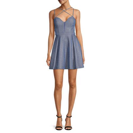 B. Smart-Juniors Sleeveless Fit & Flare Dress, 17 , Silver