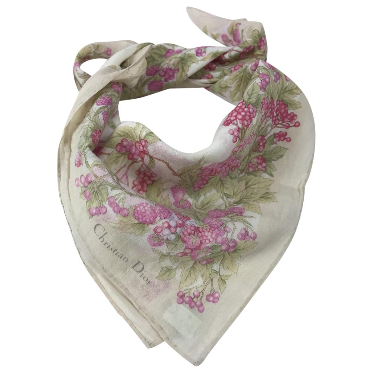 Dior \N Cotton Silk handkerchief for Women \N