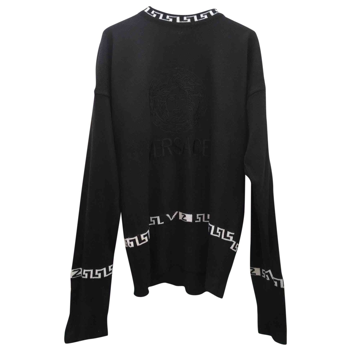 Versace \N Black Cotton Knitwear & Sweatshirts for Men L International