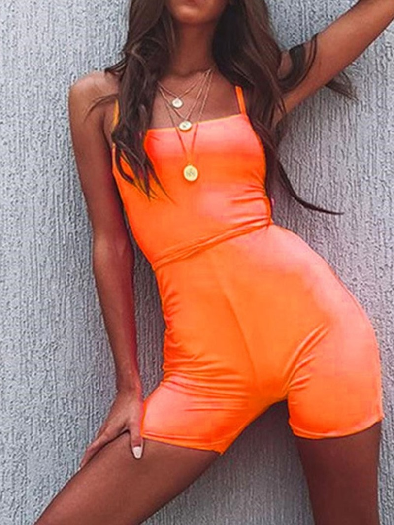 Ericdress Sexy Backless Plain Skinny High Waist Jumpsuit