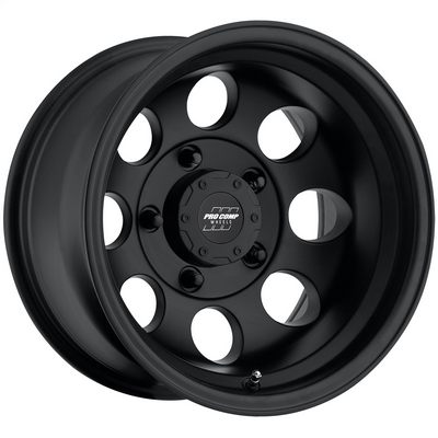 Pro Comp 69 Series Vintage Wheel, 16x8 with 5 on 5 Bolt Pattern - Flat Black - 7069-6873