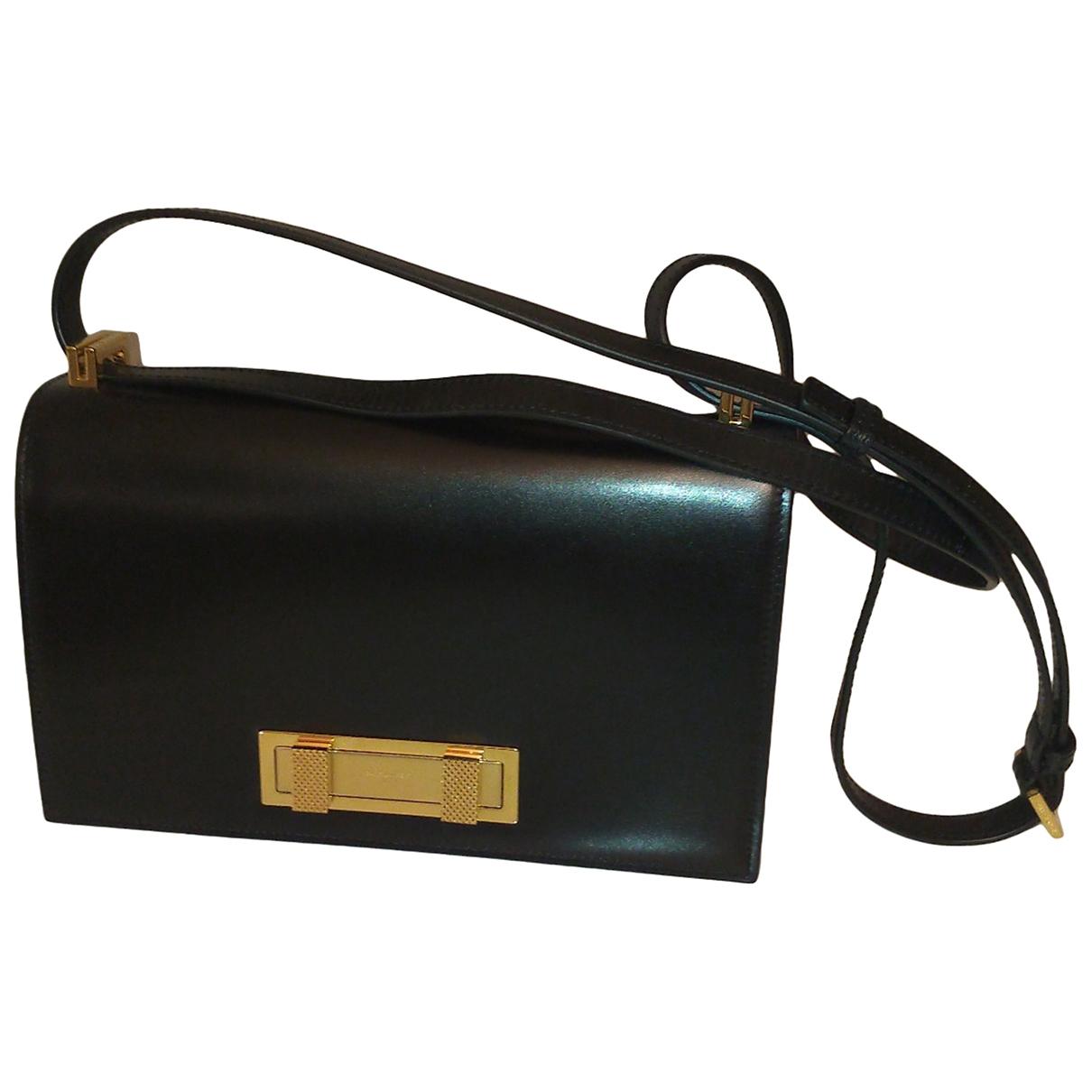 Saint Laurent Domino Black Leather handbag for Women \N