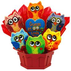 Birthday Owl Cookie Bouquet   Owl Cookies