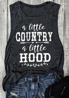 A Little Country A Little Hood Tank - Dark Grey