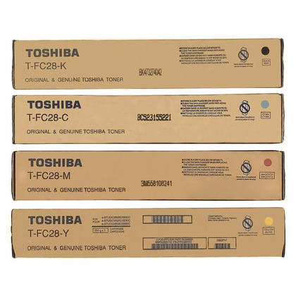 Toshiba T-FC28-K T-FC28-C T-FC28-M T-FC28-Y Original Toner Cartridge Combo BK/C/M/Y