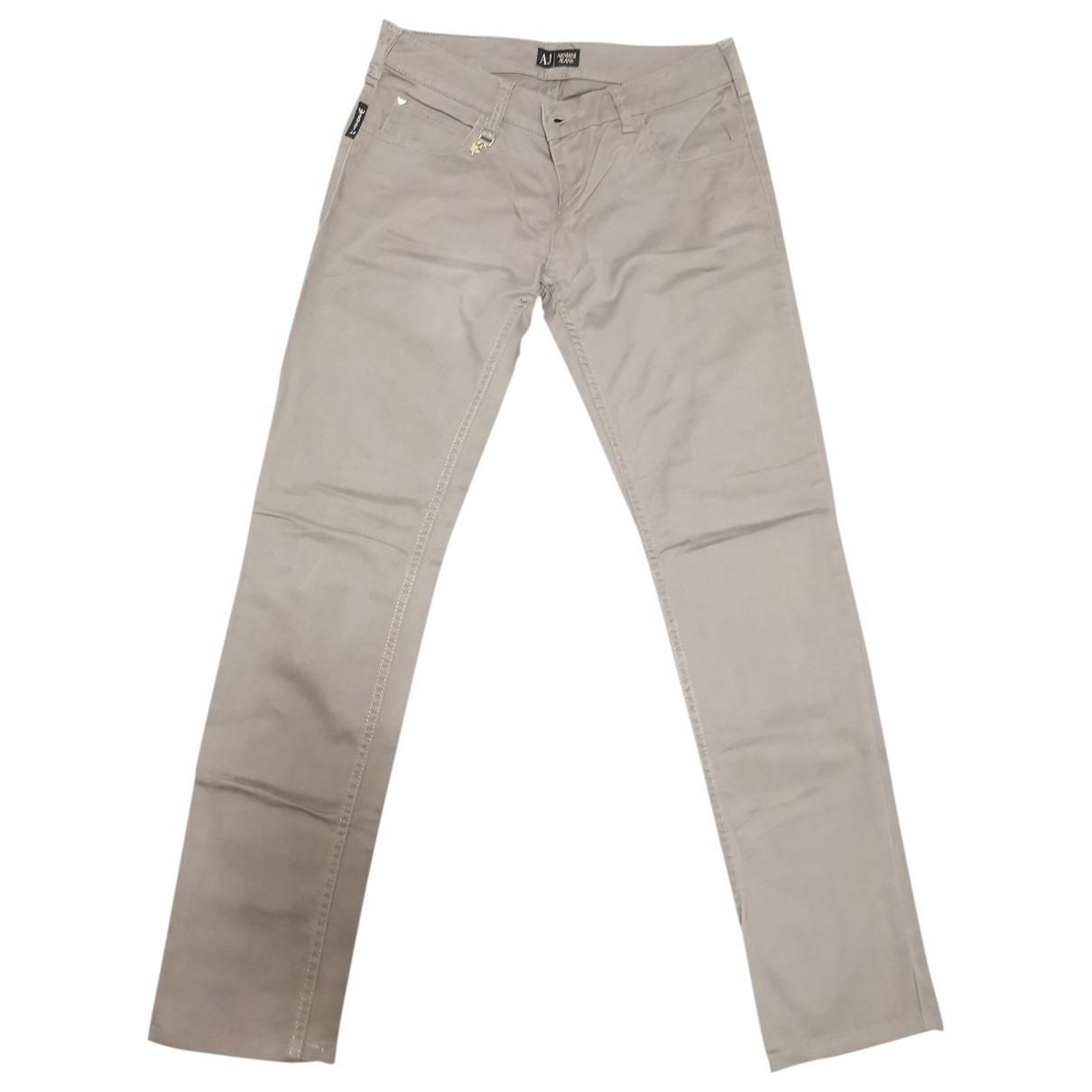 Armani Jeans \N Grey Cotton Trousers for Women 42 IT