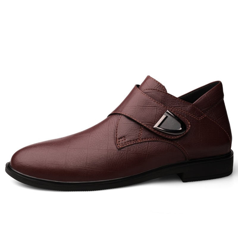Ericdress Low-Cut Upper Plain Round Toe Men's Leather Shoes