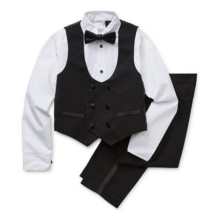 Steve Harvey Little & Big Boys 4-pc. Suit Set, 18 , Black