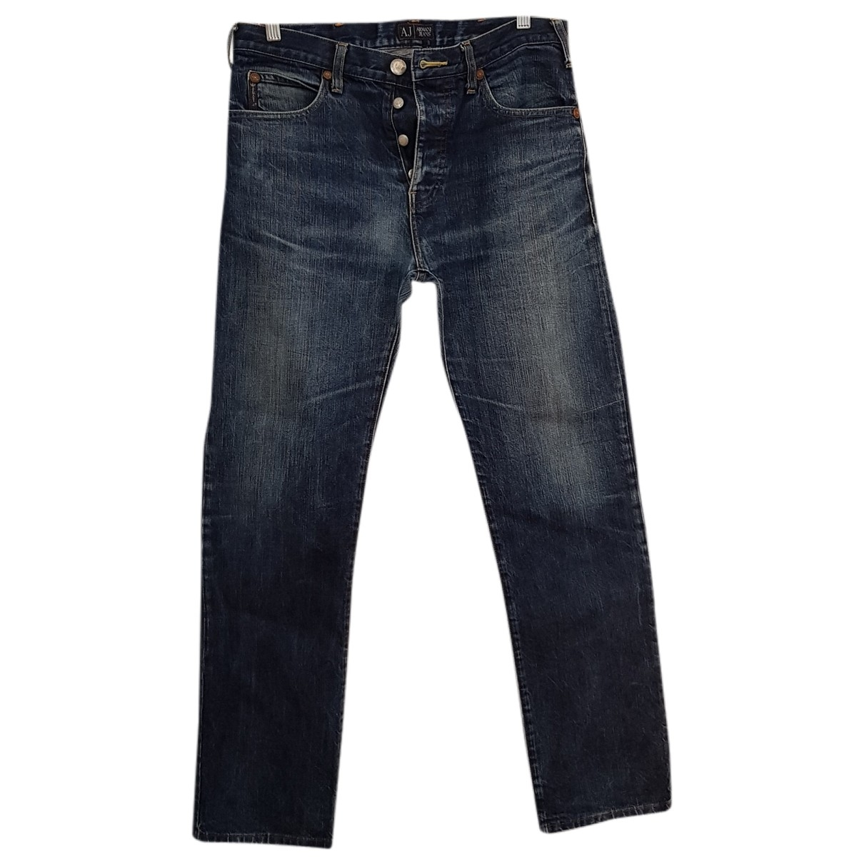 Armani Jeans \N Blue Cotton Trousers for Men S International