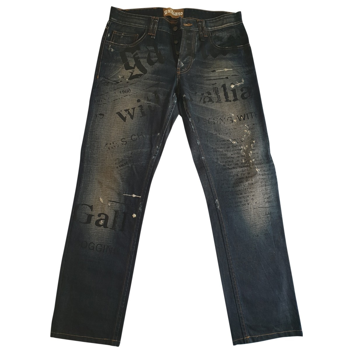 Galliano \N Cotton Jeans for Men 34 US
