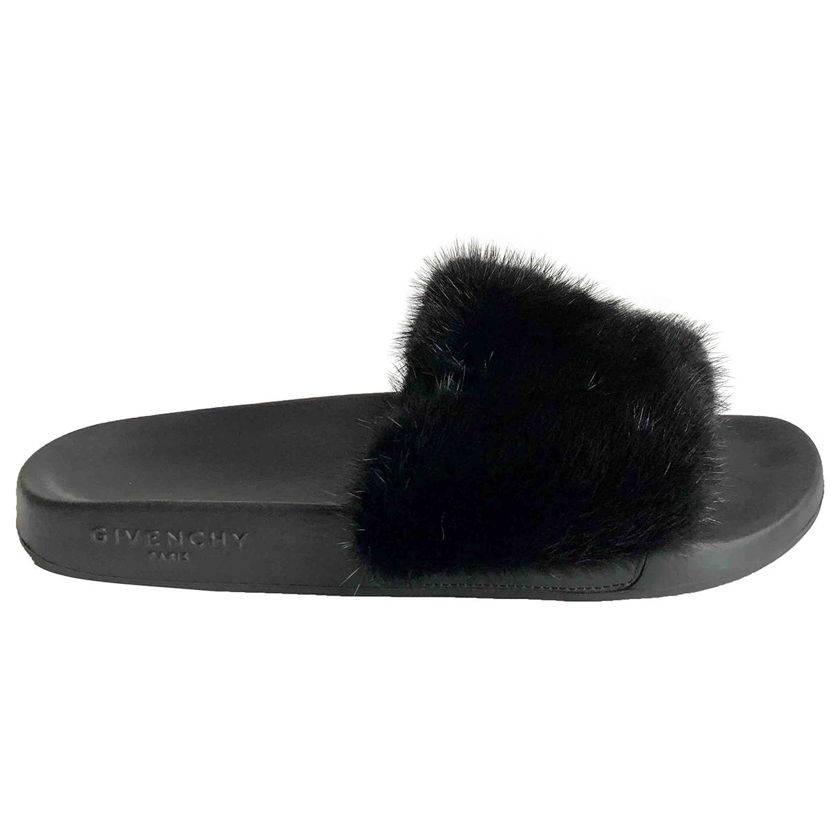 Givenchy \N Black Mink Sandals for Women 40 EU