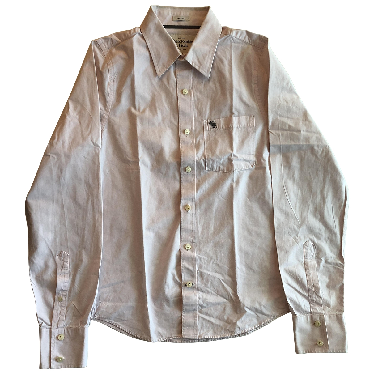 Abercrombie & Fitch \N Pink Cotton Shirts for Men M International