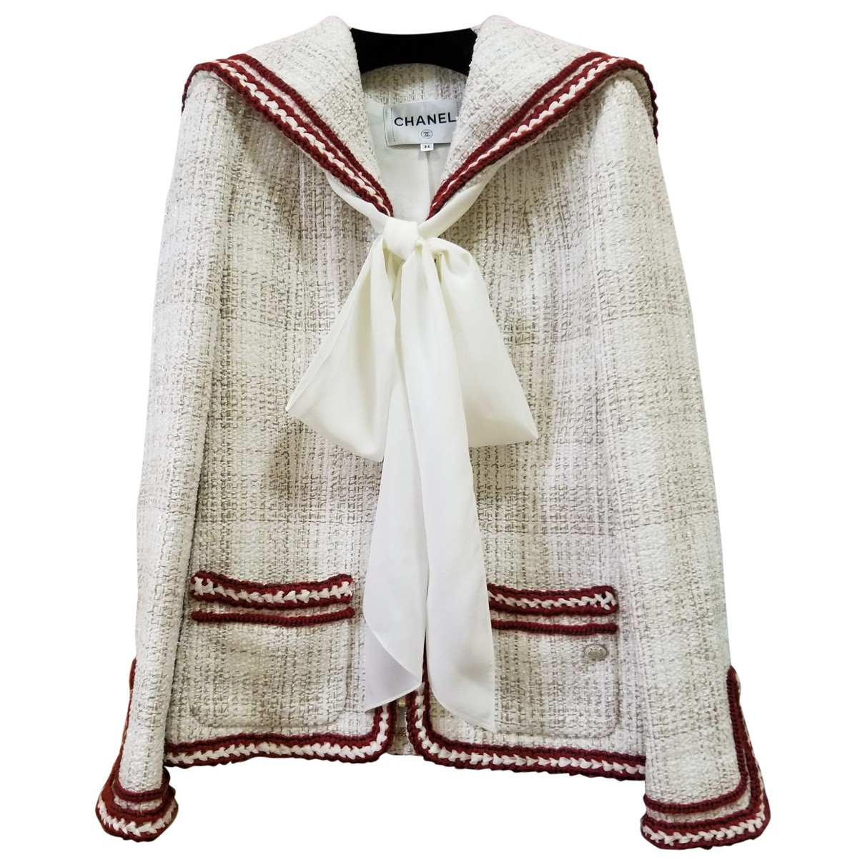 Chanel \N White Cashmere jacket for Women 34 FR