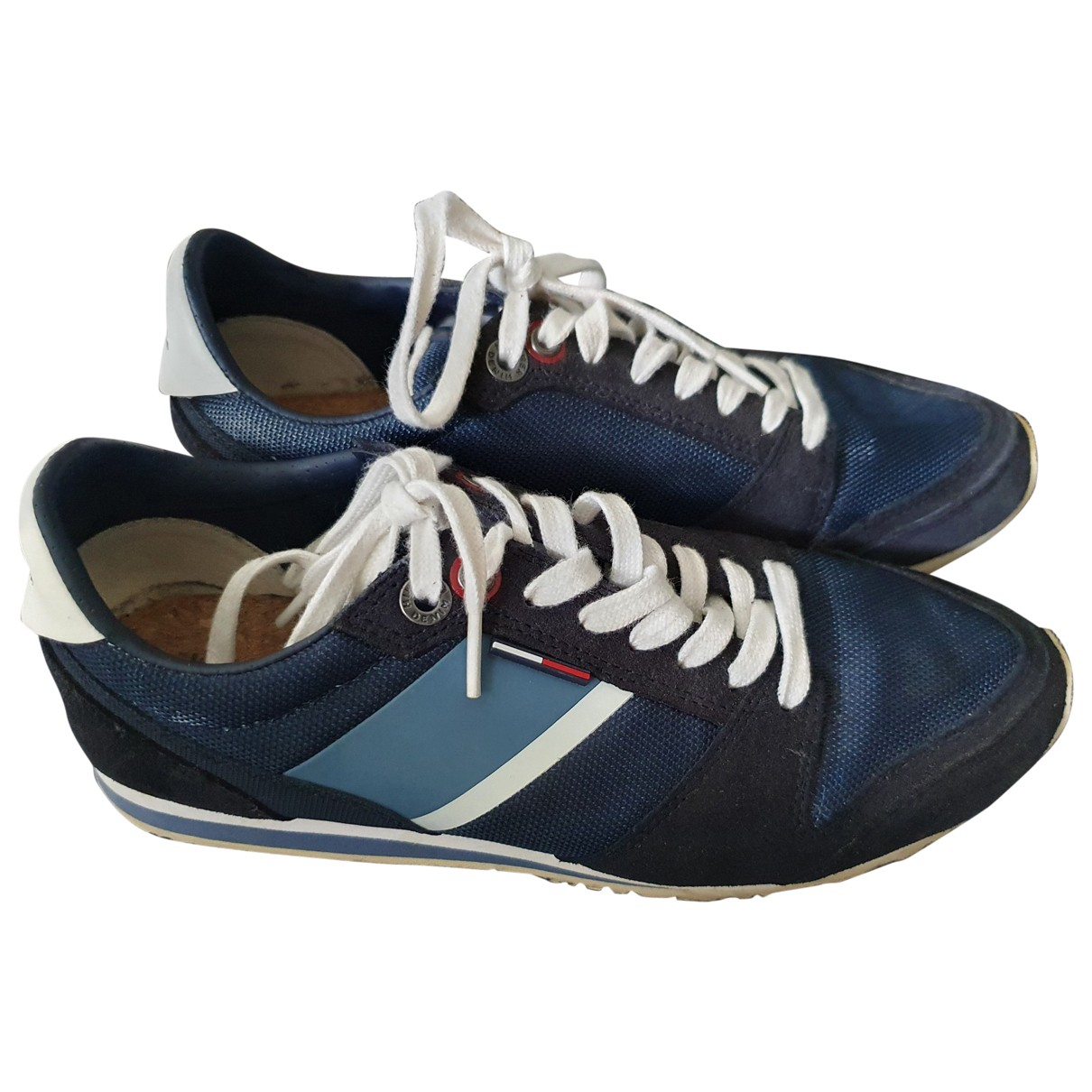 Tommy Hilfiger \N Blue Leather Trainers for Women 40 EU