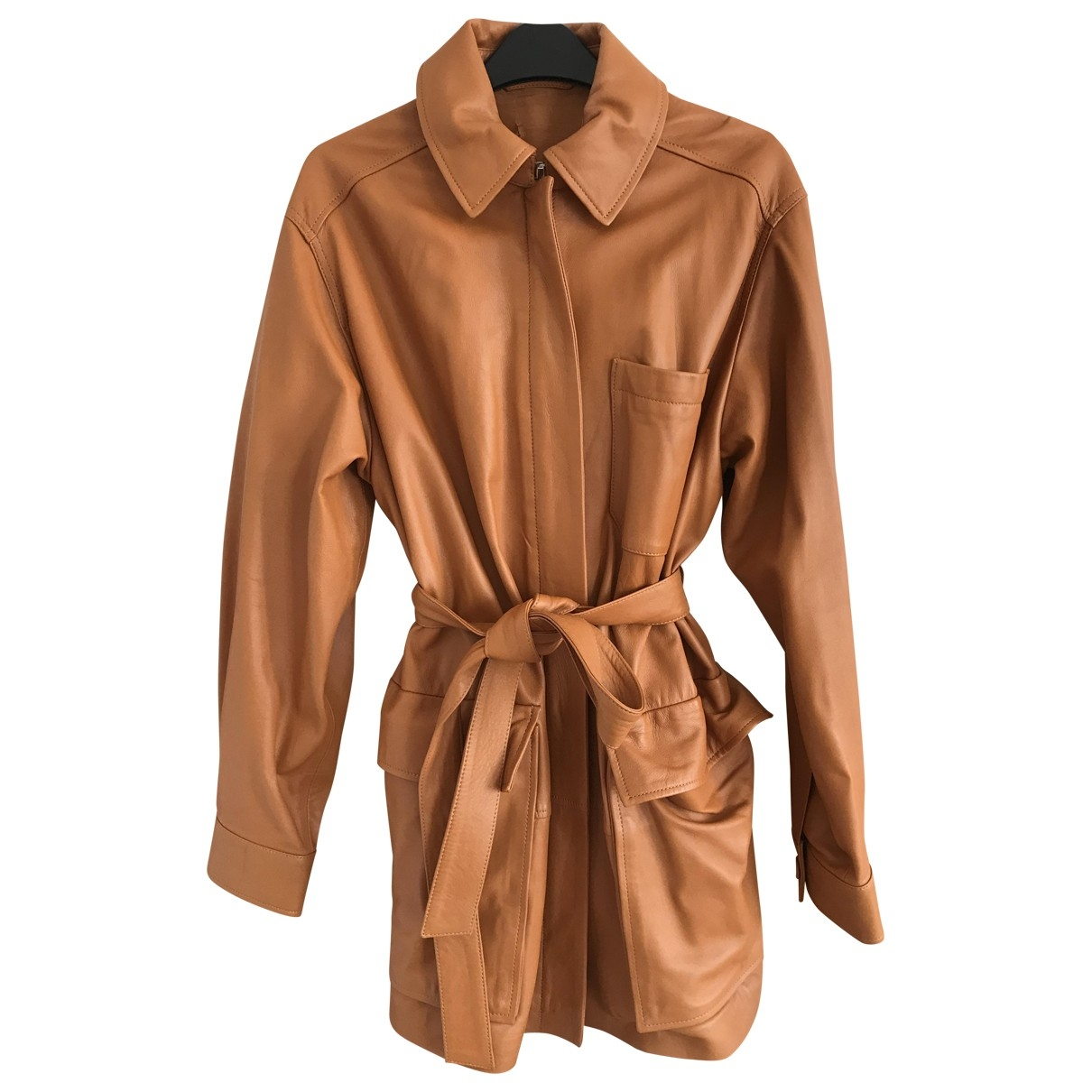 Hm Conscious Exclusive \N Brown Leather Leather jacket for Women M International