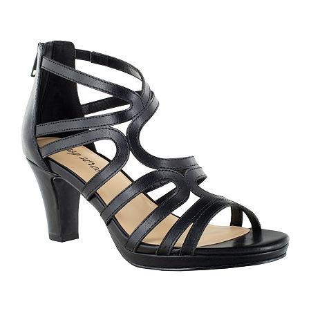 Easy Street Womens Elated Pumps Spike Heel, 9 Wide, Black