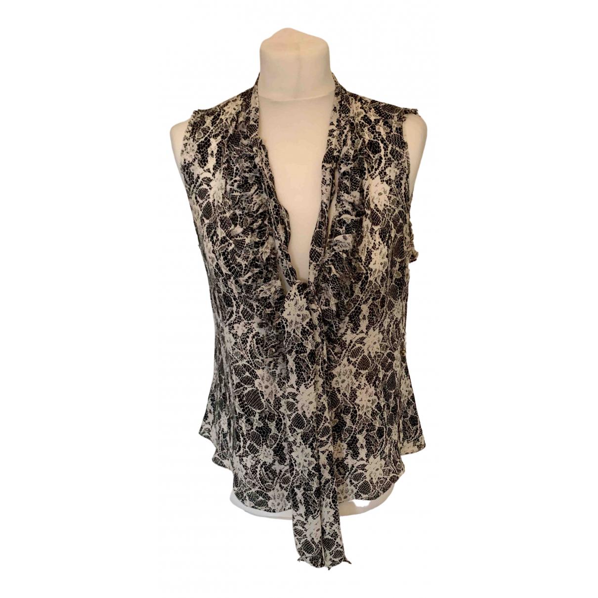 L'agence \N Ecru Silk  top for Women S International
