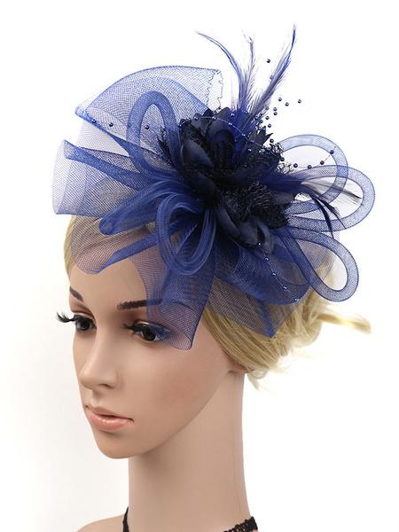 Milanoo Vintage Headpieces Flower Feathers Headband Retro Women Halloween Carnival Hair Accessories