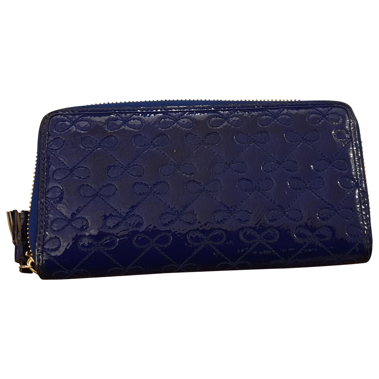 Anya Hindmarch \N Blue Patent leather wallet for Women \N