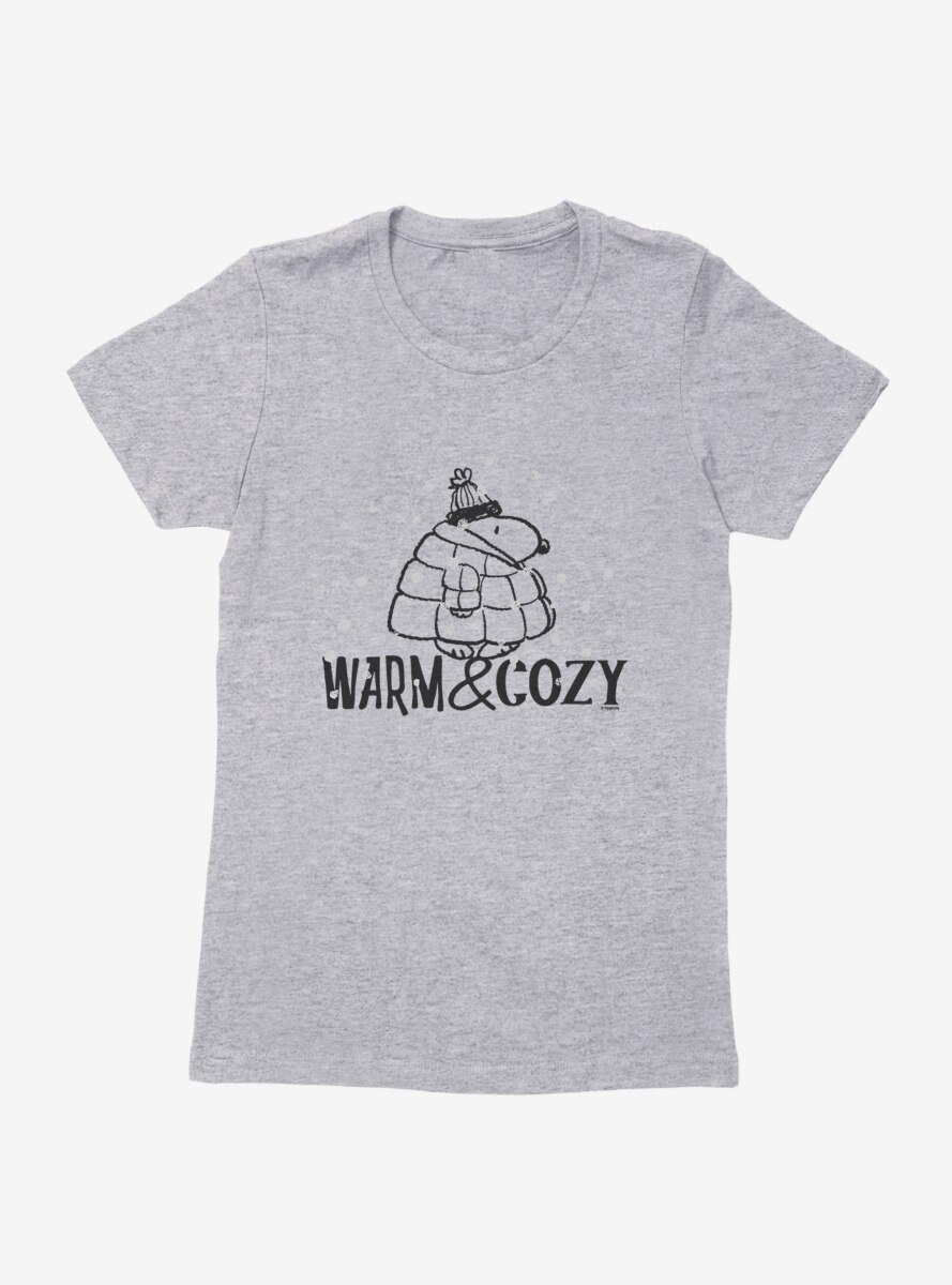 Peanuts Snoopy Warm And Cozy Snow Womens T-Shirt